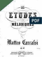 Matteo Carcassi - Studies op. 60 (1-25)