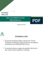 Test de Orientación Profesional - Manual de Usuario