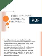 Producto Total ,Promedio, Marginal