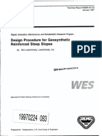 Design Procedure for Geosynthetic Reinforced Steep Slopes