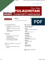 Subcont _ PT Pulauintan Bajaperkasa Konstruksi - Pekerjaan