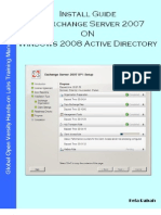 24583721 Install Guide MS Exchange Server 2007 On Windows 2008 Active Directory V1 1
