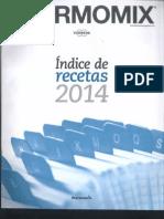 Indice de recetas Thermomix 2014