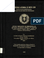 Estudio Comparativo de Permanencia de Brackets Utilizando Cemento de Ionomero y Resinas