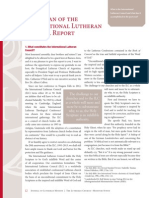 Chairman of the International Lutheran Council Report September 2015