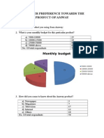 CONSUMER PREFERENCE TOWARDS THE PRODUCT OF AMWAY.docx