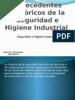Antecedentes Históricos de La Seguridad e Higiene Industrial