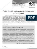 AE 3 Evolución Del Ser Humano y Su Dispersión Por El Planeta