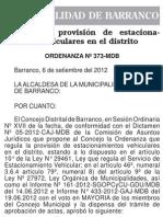 Ordenanza N - 373 - MDB