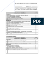 Cuestionario Para La Valoración Del Estilo de Aprendizaje Corregido
