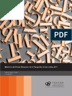exposiciones y debates sobre la tipografia