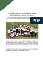 Taller de Liderazgo Desafío de los líderes educativos en tiempos de CambioVF2