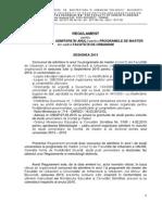 Regulament Admitere Mastere FU 2015
