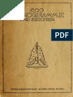 600 Monogramme Und Zeichen by Verlagsanstalt Alexander Koch (1920)