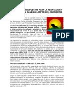 Demandas y Propuestas contra el Cambio Climático