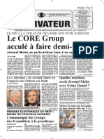 Haiti-Observateur, 2 au 7 decembre 2015