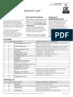 DoE Expedition Kit List