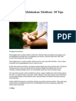 Bagaimana Melakukan Meditasi part1