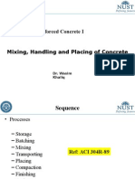 CE 308 Lec 7 Mixing, Handling and Placing of Concrete