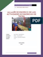 Informe Economico de Las Actividades Economicas en Tacna