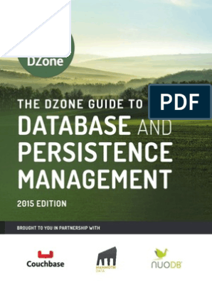 Dzone Guide - Database and Persistence Management pdf