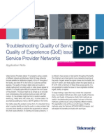 Troubleshooting Quality of Service and Experience