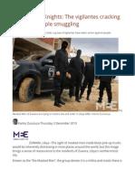 Libya's Dark Knights the Vigilantes Cracking Down on People Smuggling