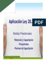 Aplicacion de La Ley 20351 SOFOFA