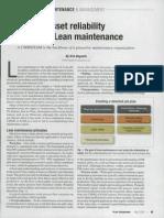 Art. 1 Lean Maintenance
