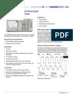Tektronix Tds1000b Oscilloscope Datasheet