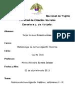 Rubricas de Investigacion Historica 5 - 9