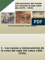 Crisis y Transformaciones Del Mundo Rural y Urbano Durante La Baja Edad Media