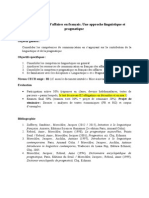 1. LFC Anul III Présentation Du Cours