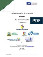 Plan Maestro Portuario de Barranquilla Resumen y Plan de Implementacion