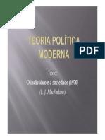 6- MacFarlane - Teoria Política Teoria Política ModernaModerna