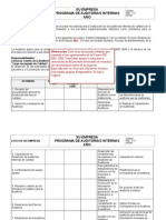 Modelo - Programa de Auditorías Internas
