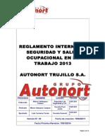 Reglamento Interno 2013 Autonort Trujillo
