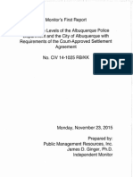 First federal monitor report on APD reforms