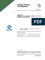 NTC 184 Metodos de Analisis Quimico de Cementos Hidraulicos