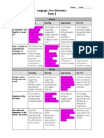 language arts term 1 student portfolio
