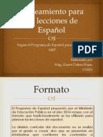 ¿Cómo Se Planea Con El Programa de Español Del MEP