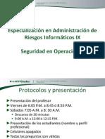 Curso Seguridad en Operaciones de Ti 23 Ene 2013 v2