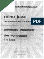 Adelhard Roidinger Der Kontrabass Im Jazz