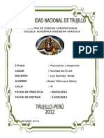 Informe Nª VI Floculacion Y Dispersion