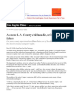 10 03 28 Los Angeles County Children Die - Supervisors Fail to Act