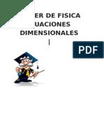 Ecuaciones Dimensionales -Luis