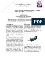 """""""Accionamiento de un Cilindro de Simple Efecto con las Válvulas de  Simultaneidad (AND) y Selectora (OR)"""""""