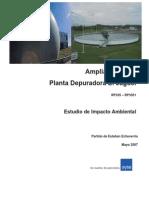 EIA Ampliacion de Planta Depuradora El Jaguel