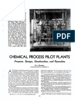 Chemical Process Pilot Plants.