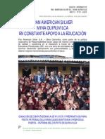 Pan American Silver Mina Quiruvilca en constante apoyo a la educación - Eusterio Huerta León